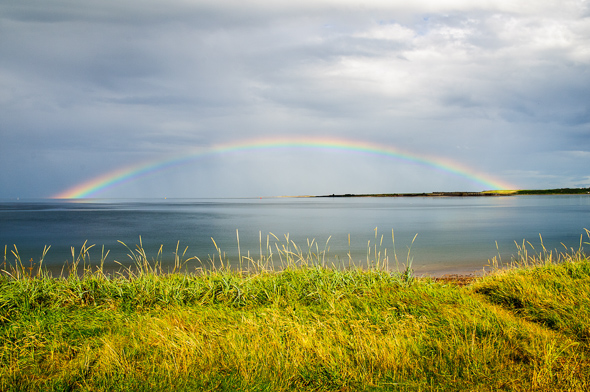 Rainbow over the Moray Firth.