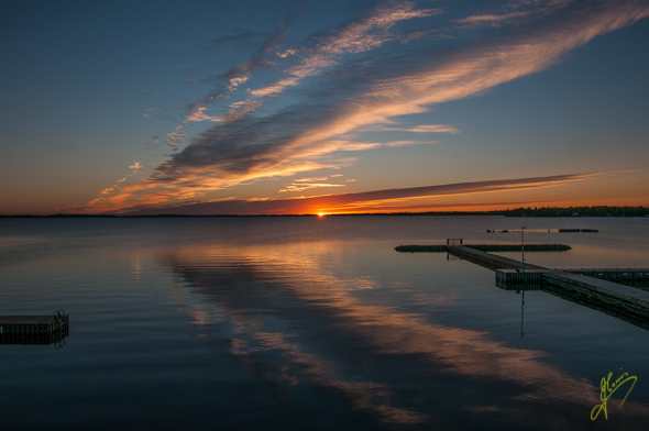 Rainy Lake Sunrise.