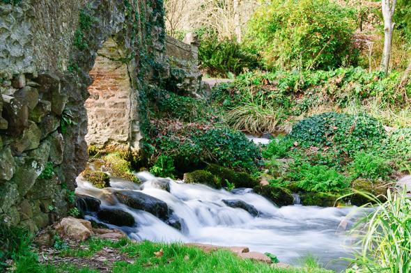 River Avill, Lovers Bridge at Dunster.