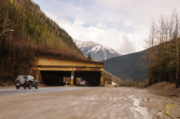 Rogers Pass Avalanche Tunnel.