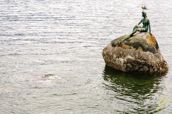 """Stanley Park, """"Girl in a Wetsuit""""."""