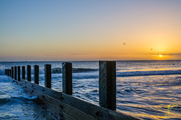 Sunrise at Waxham Beach.