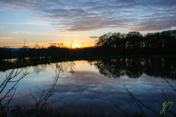 Sunset at  Ryton Farm Certificated Location.