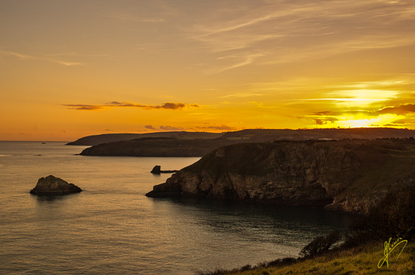Evening Light from Berry Head.