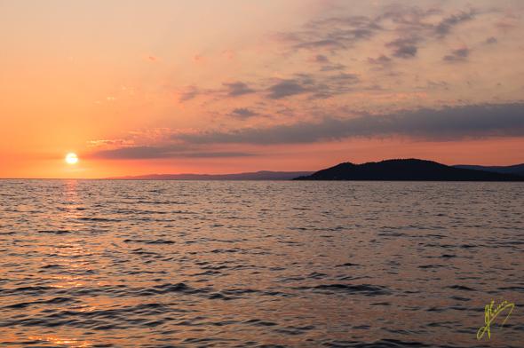 Sunset near Michipicoten.