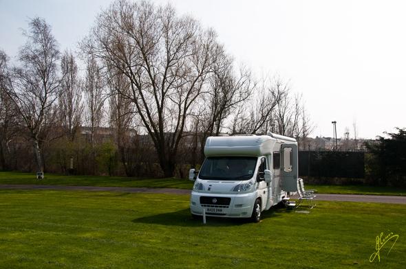 Tewkesbury Caravan Club Site.