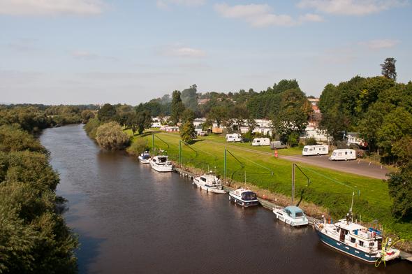 River Severn and The Ketch Caravan Park.