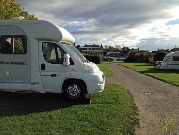 Warwick Racecourse Caravan Club Site.