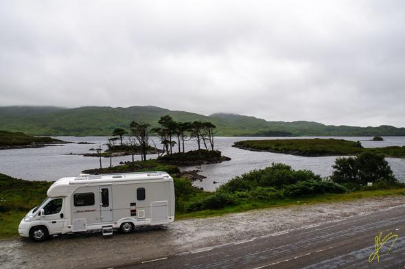 Wild Camping at Loch Assynt.