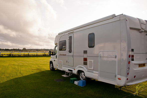 Wincanton Racecourse Camping and Caravan Club Site.