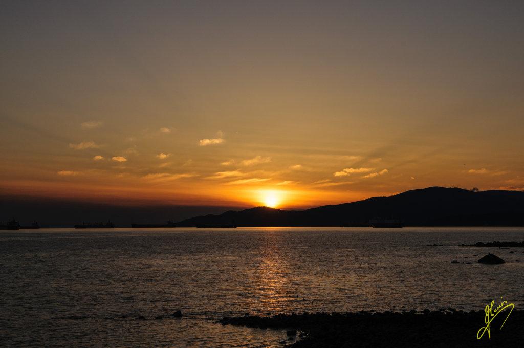 Sunset at English Bay, Vancouver. British Columbia.