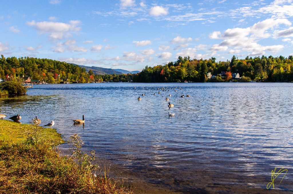 Lake Flower, New York State.