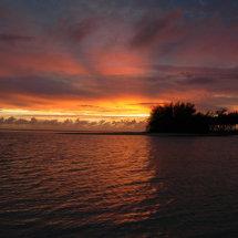 Sunrise at Muri Lagoon.
