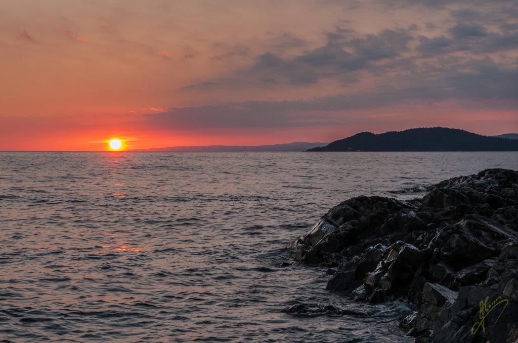 Sunset on Lake Superior, Ontario.