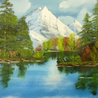 Mountain Scene - Bob Ross Style