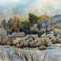 Hut in Frost £35 SOLD
