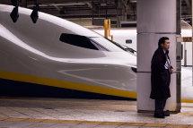 Waiting for the next Shinkansen