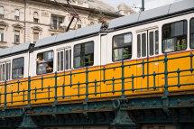 Tram past the Danube