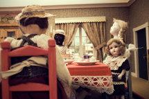 Dolls Evil Tea Party, Folk Art Museum, Santa Fe
