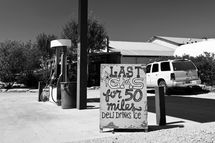 Last Chance Gas, leaving Terlingua