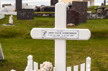 Grave at Hvalsneskirkja
