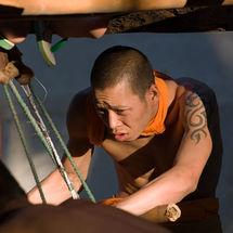 Tatooed monk