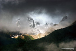 Weather forming over mountains