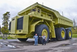 Me & Ivor BC Canada & 350ton payload dump truck 2