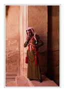 Jordanian in ornate dressware, Petra, Jordan.