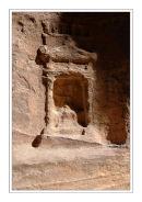 Sandstone carving, Petra, Jordan.