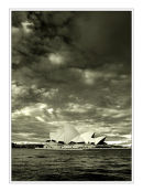 Sydney Opera House with brooding skies
