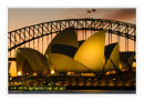 Sydney Opera House and Harbour bridge, New South Wales.
