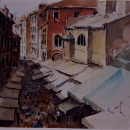 """View from the steps of Rialto - Venice"""