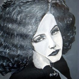 Greta Garbo - Stylised Black & White