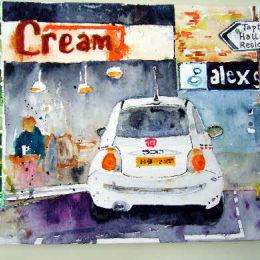 """""""Cream/Fiat 500 Broomhill"""""""