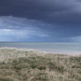 Storm over Southwold, taken from Dunwich Beach, Suffolk