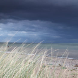 Storm over Southwold, taken from Dunwich Beach, Suffolk