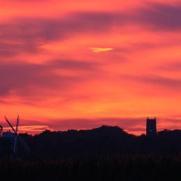 Winter sunset, Cley, North Norfolk