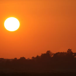 Sunset over Thornham, North Norfolk