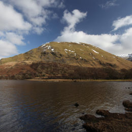View across Brothers Water to Hartsop Dodd