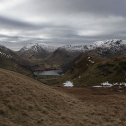 View from Angletarn Pikes looking down on Brothers Water