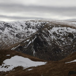 View from Angletarn Pikes, looking across to Gray Crag andd Hartsop Dodd