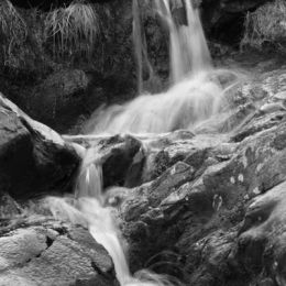 Waterfall along Dovedale Beck