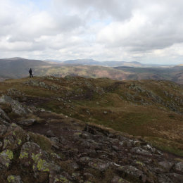 View from Place Fell (and my hubby), Patterdale, Lake District