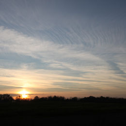 Sunset over Stiffkey, North Norfolk