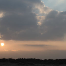 Sunset over dunes, Titchwell beach, North Norfolk
