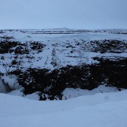 View from Gullfoss (Golden Falls) Waterfall, Iceland
