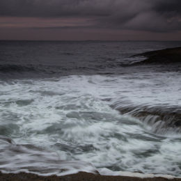 Storm brewing, taken from Bamburgh Beach, Northumbria