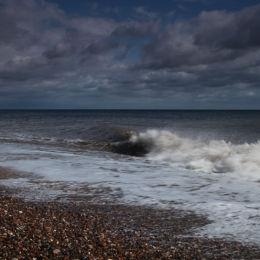 View towards Southwold from Dunwich Beach, Suffolk
