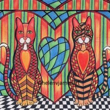 'MILLY-KARA & TIGGER KITTY CATS - HEARTS APART' - SOLD